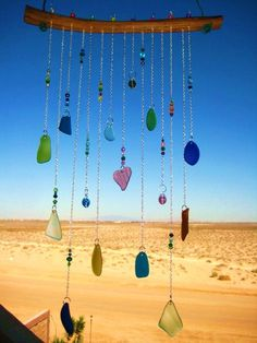 Yet another lovely Windchime idea made of Beach glass & beads.