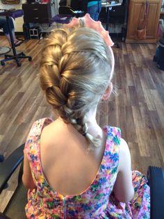 Frozen inspired braid / little girl French braid