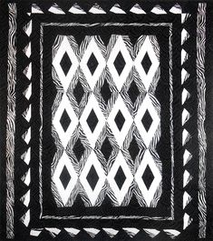 Black Diamond, Quilt by www.obaquilts.com Buy Now