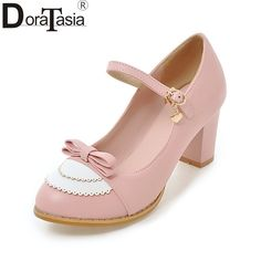 Cheap women high heel pumps, Buy Quality ladies pumps directly from China high heel pumps Suppliers: Meotina Mary Jane Shoes Women High Heels Pumps Big Size 9 45 Bow Shoes Thick High Heel Casual Ladies Pumps Pink chaussures femme Ankle Strap Shoes, Bow Shoes, High Heel Pumps, Women's Pumps, Sparkle Shoes, Metallic Shoes, Pink Pumps, Mary Jane Pumps, Spring Shoes