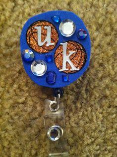 University of Kentucky Basketball Rhinestone Badge Reel by jnbenge
