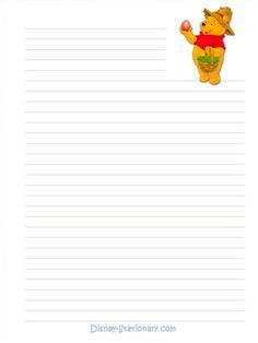 Hojas decoradas - 116859484657858523734 - Álbumes web de Picasa Printable Lined Paper, Free Printable Stationery, Printable Frames, Printable Recipe Cards, Stationery Templates, Diy Note Pad, Disney Writing, Mickey And Minnie Love, Cute Journals