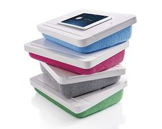 Stable work surface for your laptop, smart device or book.