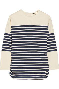 Adam Lippes|Striped cotton top|NET-A-PORTER.COM