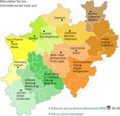 Kreisstellen der Landwirtschaftskammer Nordrhein-Westfalen
