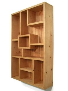 Shelf Display Shadowbox Handmade Wood Wall Art