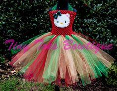 Holiday Hello Kitty by roshalsaenz on Etsy, $40.00  www.facebook.com/tinytoesbowtique2010