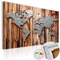 WORLD MAP - Mapa del Mundo en  Tablero de Corcho - Borders of modernity de Thegiftclub en Etsy