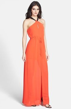 ASTR Twist Neck Keyhole Maxi Dress available at #Nordstrom