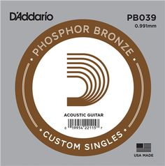 The D'Addario Single Acoustic Guitar Stringis a gauge, phosphor bronze acoustic guitar string. This string is perfect as a replacement, but can also be used to create your own custom set.