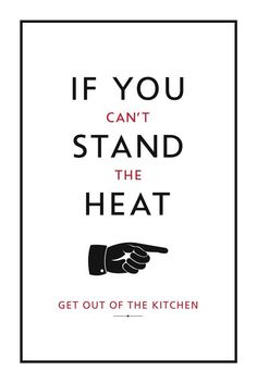 Can't stand the heat - get out of the kitchen...  Scarlett Montgomery (DsScarlett_) on Twitter