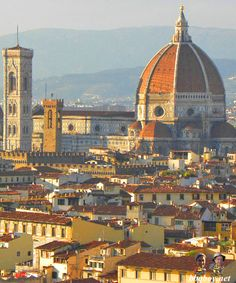 Views over Florence, Italy. More on this beautiful city: http://bbqboy.net/travel-guide-and-tips-on-what-to-see-and-do-in-florence-italy/ #florence #italy