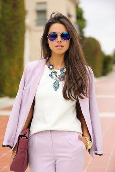 Lavender Suit. Sooo Cute!