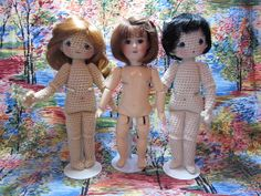 Here is the pattern to create you own Bleuette in the medium of crochet.  Links to Bluette clothing patterns in post.