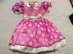 Disney Minnie Mouse Play Costume, Halloween, Girl, Pink White Polka Dot