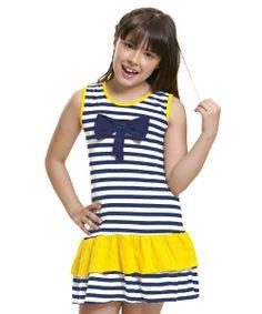 Vestido Infantil Listrado! Uma graça! Confira agora na Desfilar.com  http://www.desfilar.com.br/vestido-infantil-listrado,product,1250990395,dept,69.aspx