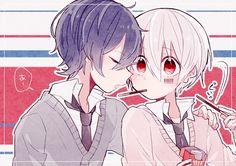 Anime Demon Boy, Hot Anime Guys, Cute Anime Boy, Kawaii Anime, Neko, Cute Anime Profile Pictures, Anime Boy Zeichnung, Anime Friendship, Anime Love Couple