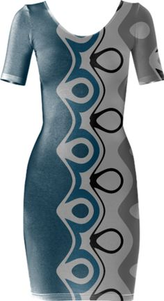 0000000P/Curvilinear Bodycon Dress