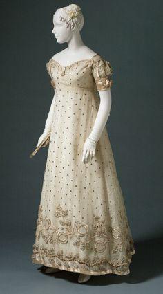 Evening dress ca. 1817 From the Philadelphia Museum of Art