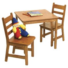 Found it at AllModern - Lipper International Kids' 3 Piece Table and Chair Set - Finish: Pecanhttp://www.allmodern.com/Lipper-International-Kids-3-Piece-Table-and-Chair-Set-514-X-IG1001.html?refid=SBP
