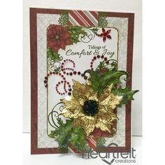 Heartfelt Creations - Gold Poinsettia Joy Project