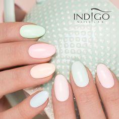 Pastel Nails from Pastel Collection 2016 by Natalia Siwiec #nails #nail #nailsart #indigonails #indigo #hotnails #summernails #springnails #nataliasiwiec #omgnails #pastelnails #pastel #pink #peach #mint