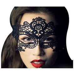 Rbenxia Women Girl Sexy Lace Eyemask Eye Mask for Halloween Masquerade Party Black