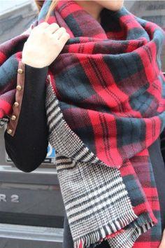 Reversible Double Sided Blanket Scarf – Jess Lea Boutique #JessLeaBoutique