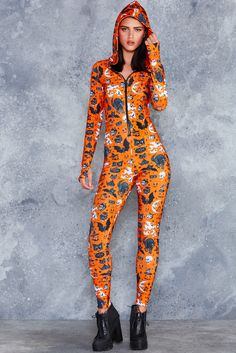 Trick Or Treat Pumpkin Snuggle Suit ($150AUD) by BlackMilk Clothing - SALEM Collection (Halloween 2017)