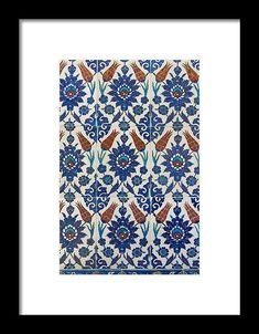 Rustem Pasha, Iznik Mosque Framed Print by Ayhan Altun Hanging Wire, Geometric Designs, Black Wood, Mosque, Clear Acrylic, Fine Art America, Framed Prints, Design Inspiration, Tapestry