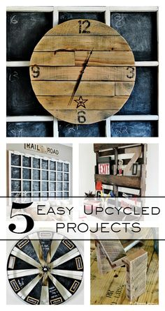 Five easy up-cycled projects.  Trash has never looked so good!  thistlewoodfarms.com