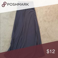 Dark gray maxi skirt, never worn Target brand maxi skirt. Never worn. Soft and flowy, super cute. Skirts Maxi