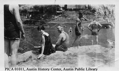 Barton Springs in Austin, Texas, during the First World War