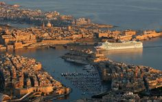 Cruise Liner at the Grand Harbour, Valletta, Malta