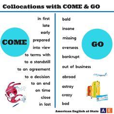 Collocations with COME & GO #learnenglish @AntriParto