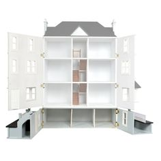 Dolls House Workshop Seaview / Gables BasementA splendid front hinged basement that creates an imposing appearance and gives additional space for domestic purposes or living quarters. Comes complete with wooden steps, railings, pillars and sashes. Diy Dollhouse, Dollhouse Miniatures, Wooden Steps, Wooden Windows, The Gables, Stair Railing, Internal Doors, Kit Homes, Small World