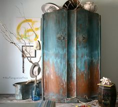 Amazing Wardrobe Hand Painted in Feathered Nest From Heirloom Traditions Paint