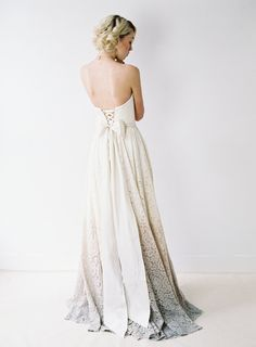 Taylor // A Dip-Dyed Lace Wedding Dress