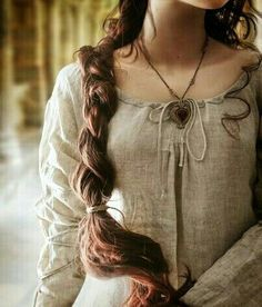 girl, hair, and medieval image Medieval Dress, Medieval Fantasy, Medieval Girl, Medieval Clothing, Story Inspiration, Character Inspiration, K Fashion, Historical Women, Long Hair Styles