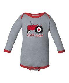 International Harvester Athletic Red 'Chug Chug' Bodysuit - Infant by International Harvester #zulily #zulilyfinds