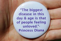Princess Diana Love Quote Button/Badge or by TheVeganHippieFreak, $2.00