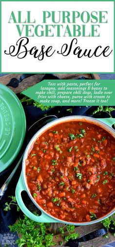 All Purpose Vegetable Base Sauce - Every home cook should have a stash of base sauce that can quickly bring a meal together with very little time and effort. Make this sauce your weekend food prep project! Sauce Spaghetti, Meal Prep, Food Prep, Vegetarian Recipes, Cooking Recipes, Vegetable Recipes, Food Stamps, Teriyaki Sauce, Homemade Sauce