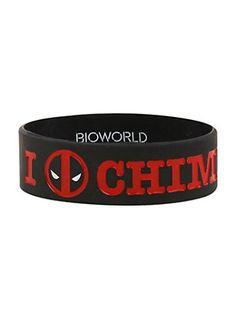 Marvel Deadpool Chimichangas Rubber Bracelet,