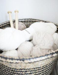 Panier a tricoté