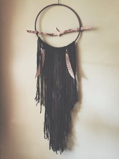 Bohemian Dreamcatcher  southwestern decor  yarn by WovenTheShop