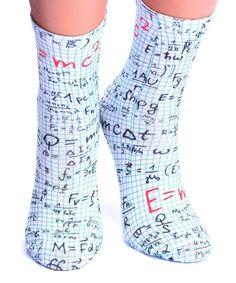Look at this #zulilyfind! White & Blue Grid Math Crew Socks - Women #zulilyfinds