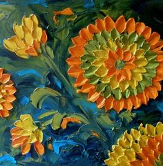 Jan Ironside - painting with a palette knife