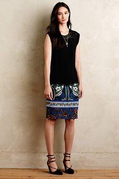 Bordered Jacquard Sweater Skirt - anthropologie.com