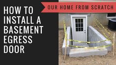 How to Install a Basement Egress Door - YouTube