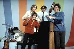 """The Monkees, screen shot of """"Daydream Believer"""" clip #themonkees #themonkeesdaydreambeliever #themonkeesrainbowroom"""